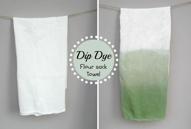ombre flour sack towels