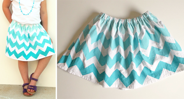 flour sack cloth skirt