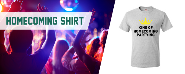 homecoming college party shirt