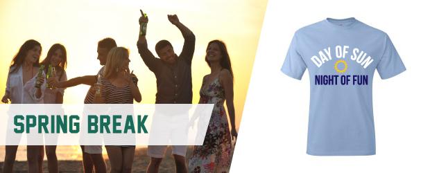spring break college party shirt