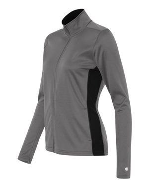 grey womens zip-up