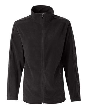 black mens fleece zip-up