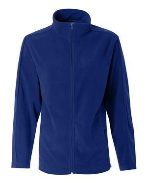blue mens fleece zip-up