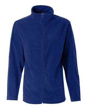 blue mens fleece zip-up