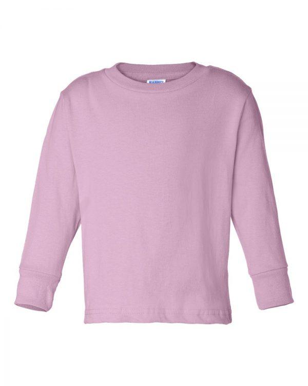 Toddler tee long sleeve pink