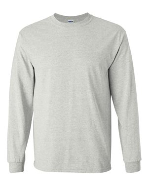grey cotton long sleeve shirt