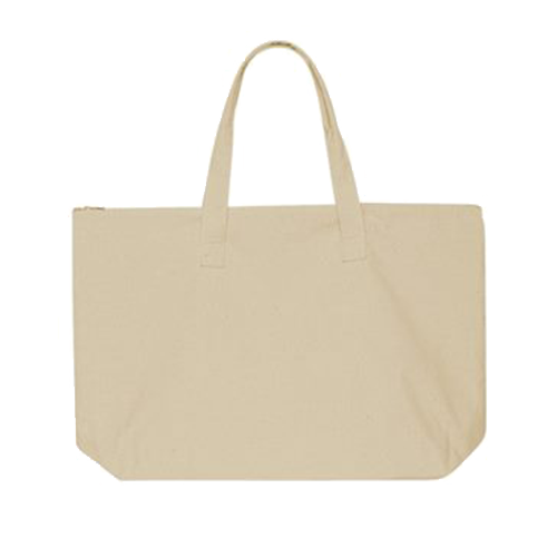 a632e07183cd Zip Top Canvas Tote Bag - Tote Bag with Zipper | Cotton Creations