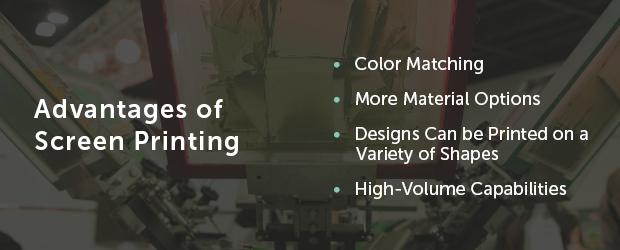 advantages of screen printing