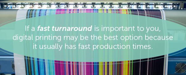fast turnaround digital printing