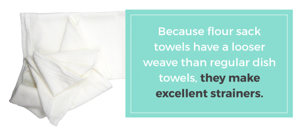 Flower Sack Towel Benefit