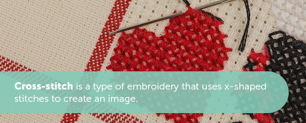 The Difference Between Cross-Stitch, Embroidery and Needlepoint