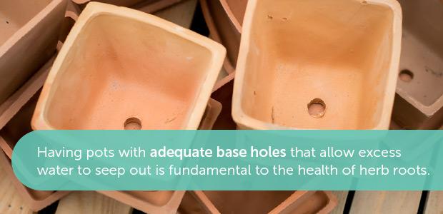 pot drainage holes