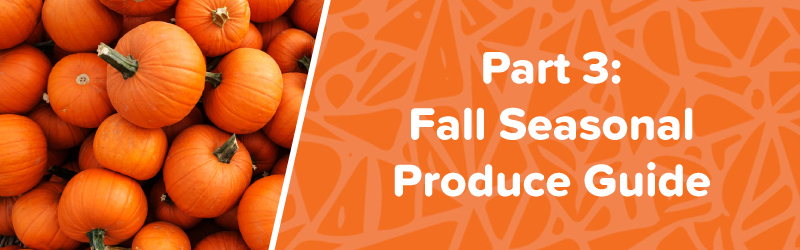 fall seasonal produce