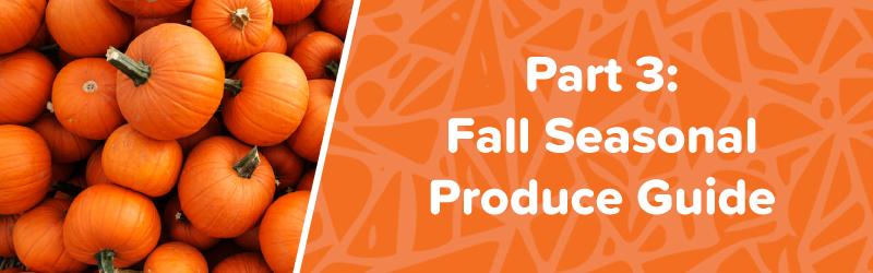 fall seasonal produce