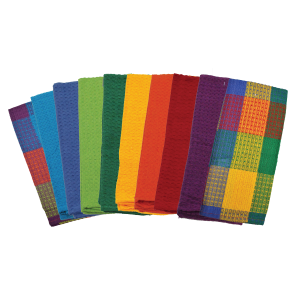 Colored dish cloth towels