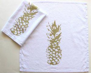 Custom printed bleached flour sack towels