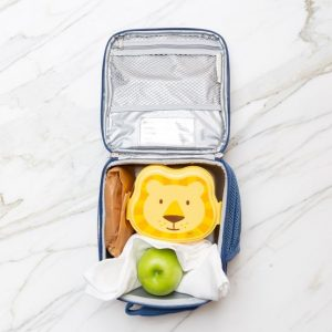 Bleached flour sack towel in a lunch box
