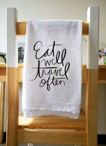 custom printed tea towels