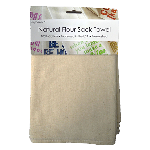 Craft Basics Natural Flour Sack Towel