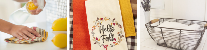 A variety of customized napkins