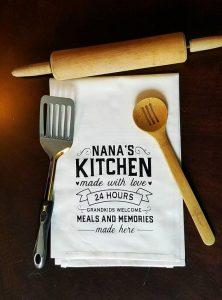 """Kitchen towel that says """"Nana's Kitchen"""""""