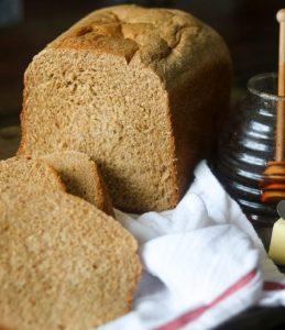 Kitchen towel under bread