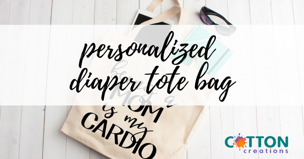 personalized diaper tote bag