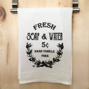 Custom printed flour sack towel
