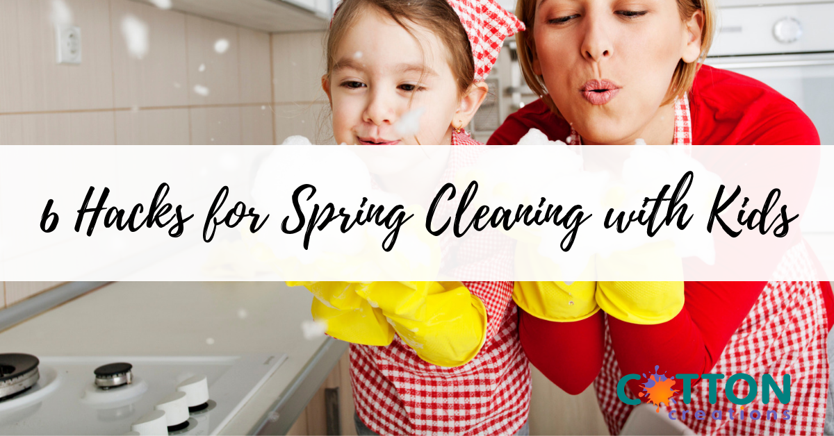 hacks for spring cleaning with kids