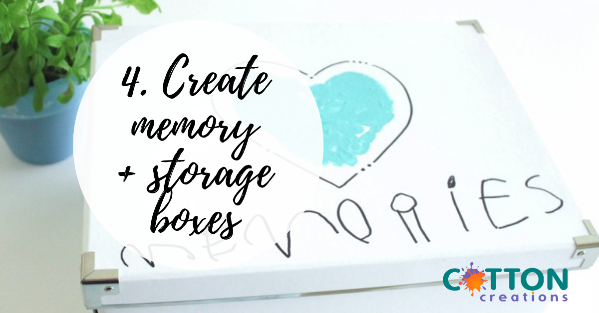 create memory and storage boxes
