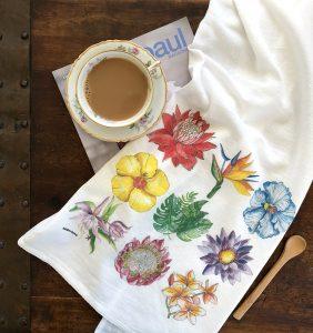 decorated flour sack towel