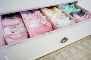 Folded baby onesies