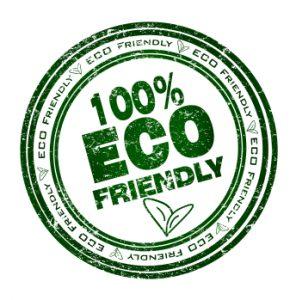 100% eco friendly badge