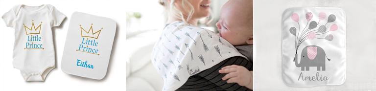 custom baby burp cloths
