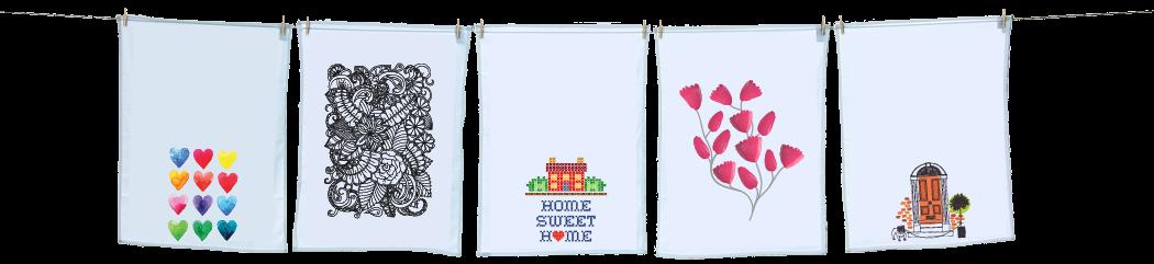 hanging tea towel designs