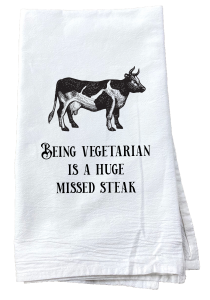 Funny cow kitchen steak towel