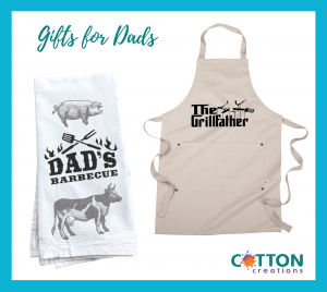 Custom BBQ grill master apron and towel
