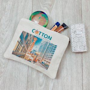 Custom printed canvas zipper bag