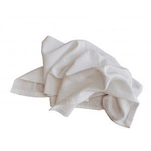 white huck towel