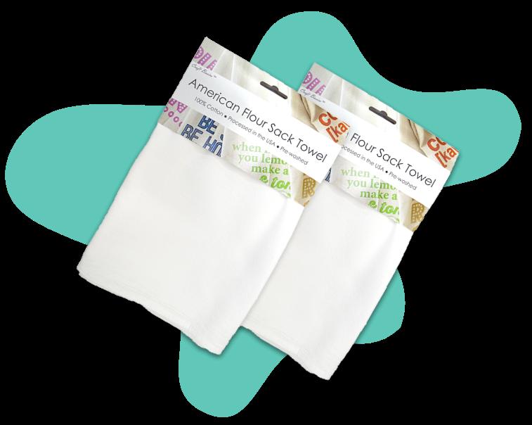 American flour sack towel