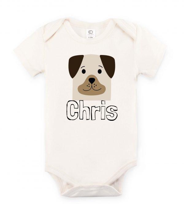 Puppy pal custom printed onesie